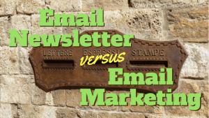 email newsletter vs email marketing