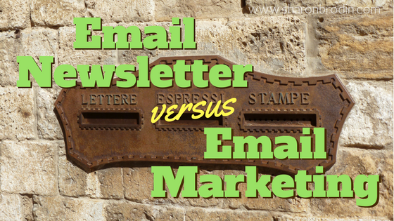 email newsletter vs email marketing