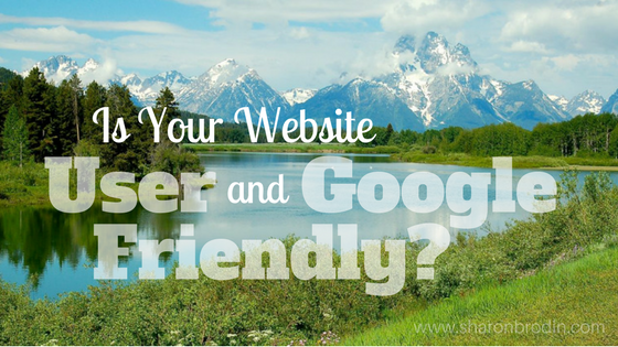 user and google friendly